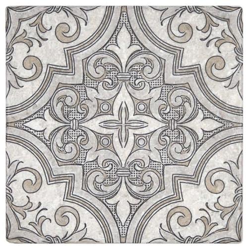 Ella Pattern Jute 6X6 - Perle Blanc
