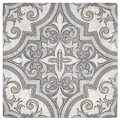 Ella Pattern Jute 12X12 - Perle Blanc
