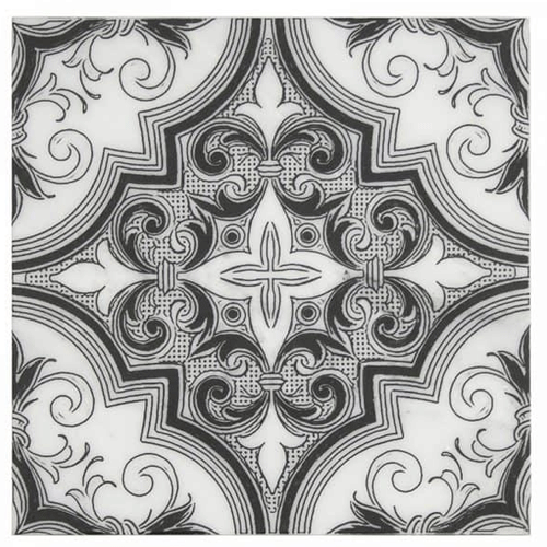 Ella Pattern Black Magic 12X12 - Carrara