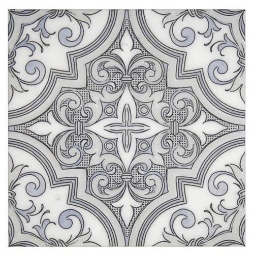 Ella Pattern Blizzard Blue 12X12 - Carrara
