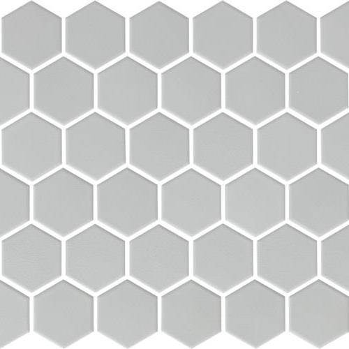 Urban Textures Mosaics Cool Gray Matte - Hexagon