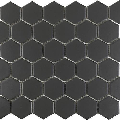 Urban Textures Mosaics Graphite Matte - Hexagon