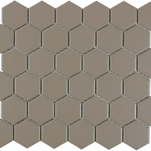 Urban Textures Mosaics Gray Matte - Hexagon