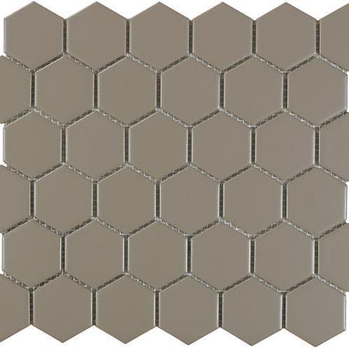 Urban Textures Mosaics Gray Matte - Hexagon