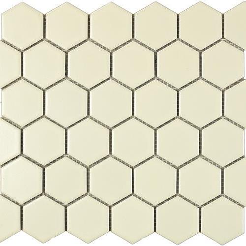 Urban Textures Mosaics Ivory Matte - Hexagon
