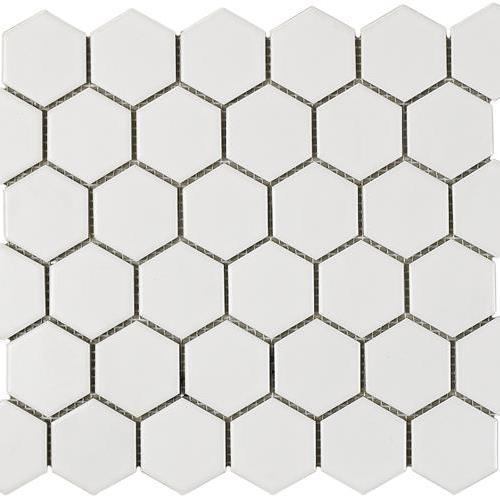 Urban Textures Mosaics White Matte - Hexagon