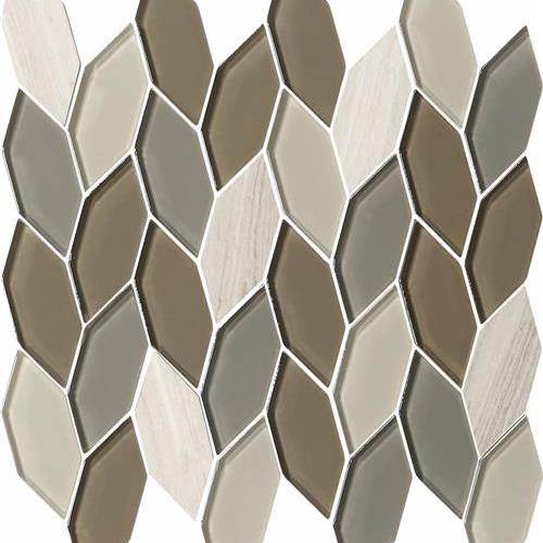 Natural Elements Mink - Hexagon Leaves