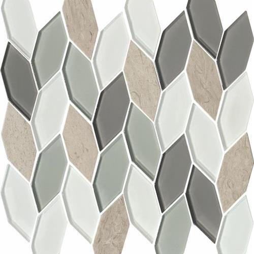 Blue Heron - Hexagon Leaves