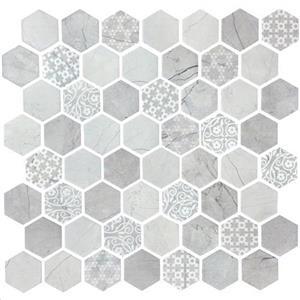 GlassTile Artisan ARTHEX002 Grigio-15x15