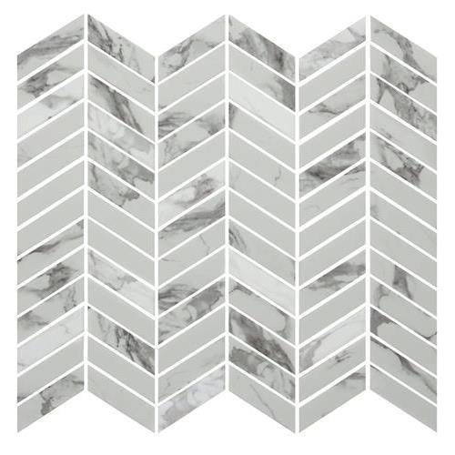 Simple Stone Bianco Chevron