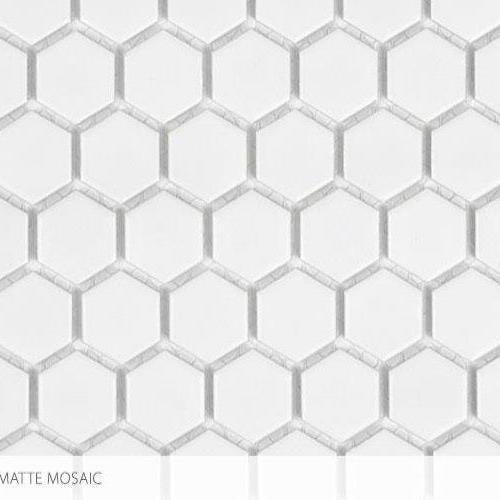 Seville Series - Contempo Heritage 1 X 1 Hex All White