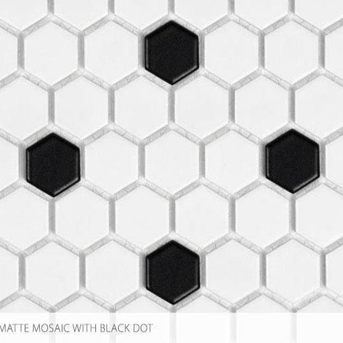 Seville Series - Contempo Heritage 1 X 1 Hex With Black