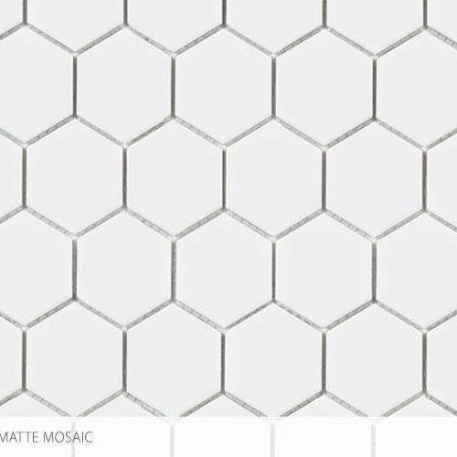 Seville Series - Contempo Heritage 2 X 2 Hex All White