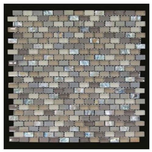 GLT Glass Mosaic Collection Seaside Sand - Matte GLTSANMSEASIMOBR