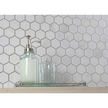 Exagon White Hxp-1 - 2 X 2 Mosaic
