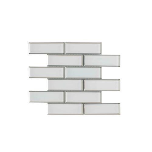 Crystal White Brick Pattern - 2 X 6 Mosaic